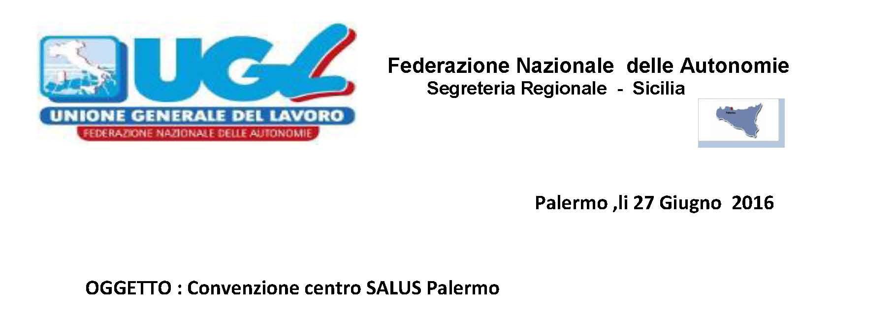 Convenzione centro SALUS Palermo